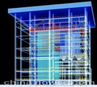硫化床锅炉模型东方锅炉模型电站锅炉模型锅炉房模型(图)