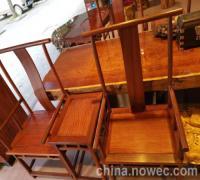 缅甸花梨大果紫檀官帽椅家具红花梨(图)