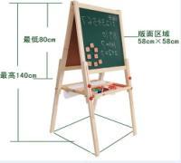 一白一绿画板画架儿童画架木制画架画板美术画板画架(图)