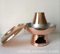 直径30cm紫铜木炭铜火锅(图)