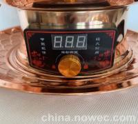插电铜火锅木炭铜火锅纯紫铜加厚老北京木炭铜火锅(图)