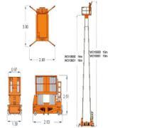 四桅自行走桅柱式高空作业(图)