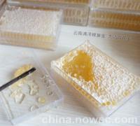 云南满泽蜂巢蜜蜂蜜盒装纯正天然农家自产野生百花蜜原蜜蜂窝(图)
