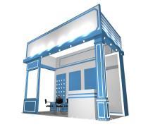 广州展馆圆桌洽谈桌租赁,铝型材搭建制作工厂,广州展位装修布置(图)